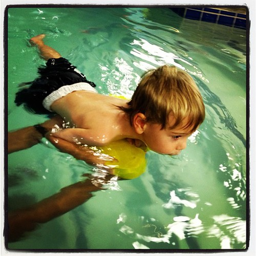 Swimming and Blowing Bubbles