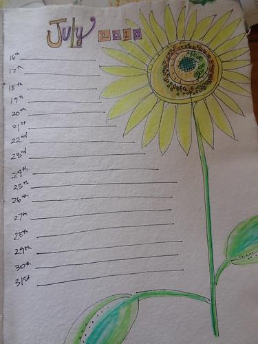 July 2012 Calendar Page