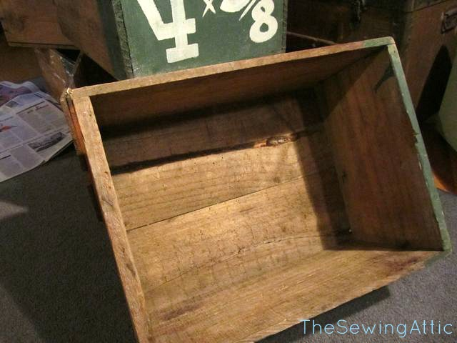 Old wooden nail boxes