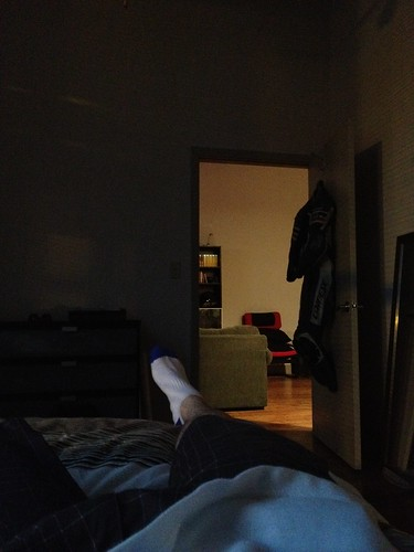 8:36pm just got home from the office. Resting by marshallhaas