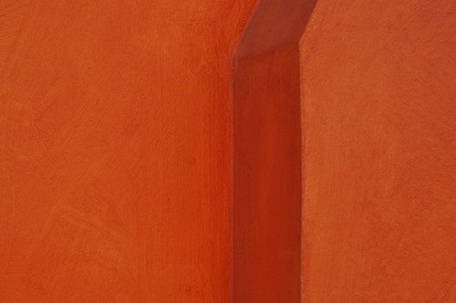 orange wall corner