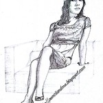 female model on sofa - Step 5