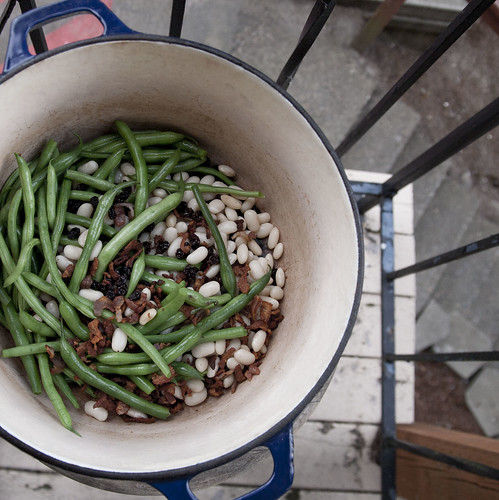 Green Bean Salad with Currants, Cannellinis and Pancetta-Balsamic Vinaigrette