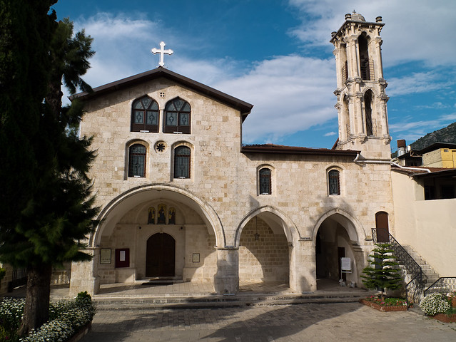 fachada de la Iglesia Ortodoxa Siria de Antioquia