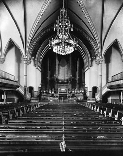 Interior St. James Methodist Church, Montreal, QC, about 1892