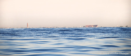 Jones Beach from ocean by Alida's Photos
