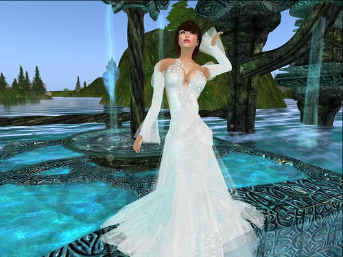 **TWA** Polished Pearl Gown by Cherokeeh Asteria