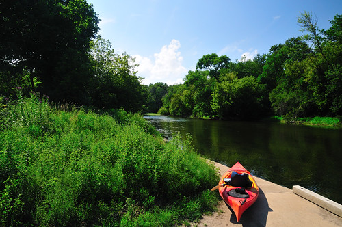 Kayak on the Des Plaines