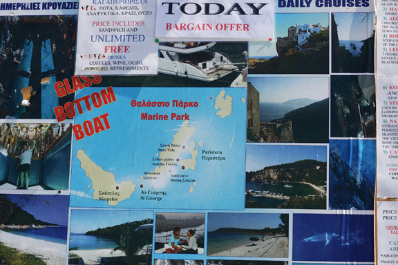 trip to Alonissos by boat