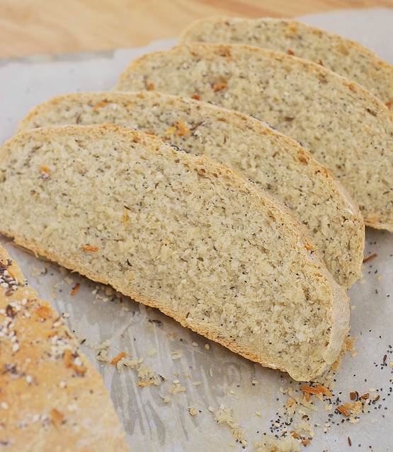 Everything Bread - yeast bread with everything bagel seasoning inside AND on top! The most delicious bread for toast!