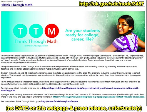 Think Through Math - Okahoma SDE