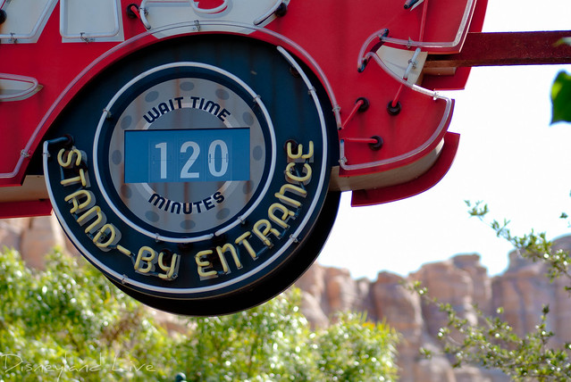 Wait time for Radiator Springs Racers - Cars Land