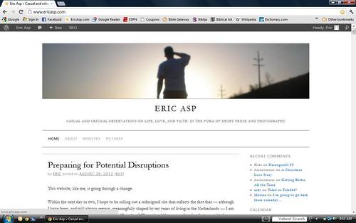 EricAsp.com Screen Capture