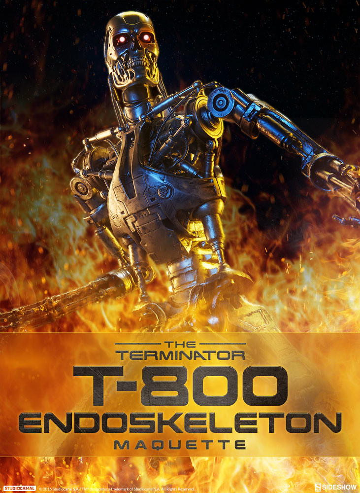 Sideshow Collectibles【魔鬼終結者:T-800 內骨骼】Terminator T-800 Endoskeleton 全身雕像作品