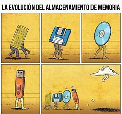 Evolución de almacenamiento de memoria