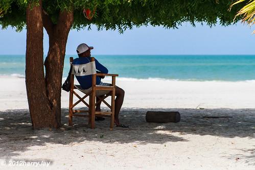 ocean vacation male beach beauty relax sand solitude paradise lifeguard shade 2012 week16 475365