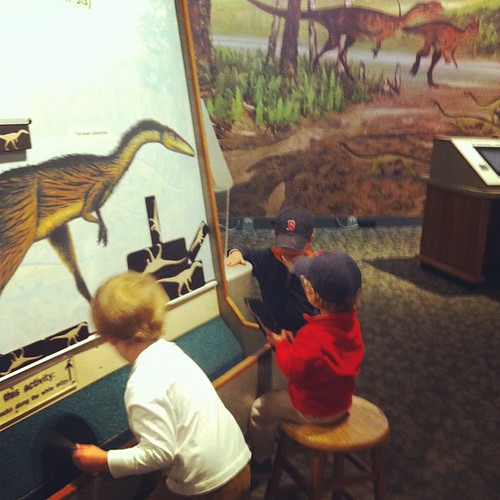 Learning about dinosaurs