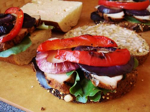 Blackened Chicken Sandwich: Innard