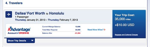 DFW-HNL on HA and AA Metal small fee