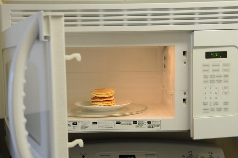 Opened microwave