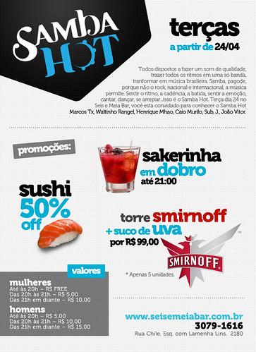 Flyer - Samba Hot by chambe.com.br