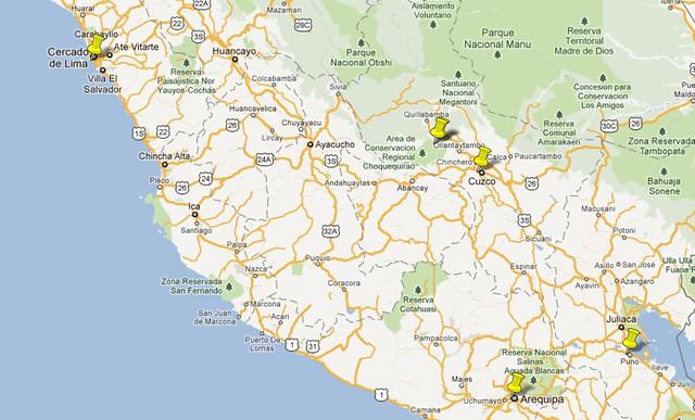 Mapa Roteiro Peru