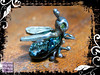 Pendant Silver Dichroic Glass Bug Peridot Eyes 03