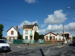 Urban panorama Argenteuil, France in May by Julie70