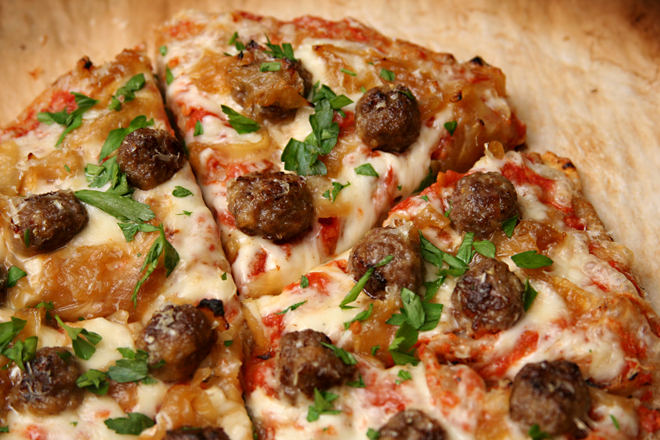 lamb meatball pizza 5