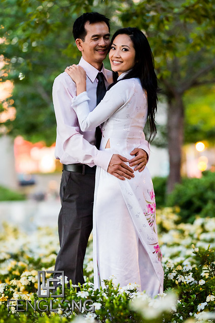 Anh & Tan's Engagement Session | Centennial Olympic Park & Downtown Atlanta | Atlanta Vietnamese Wedding Photographer