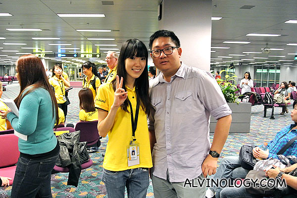 Bumped into a friend, Shuhui who is now a Scoot cabin crew