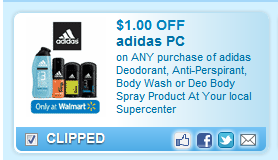 Adidas Deodorant, Anti-perspirant, Body Wash Or Deo Body Spray Product At Your Local Walmart Supercenter  Coupon