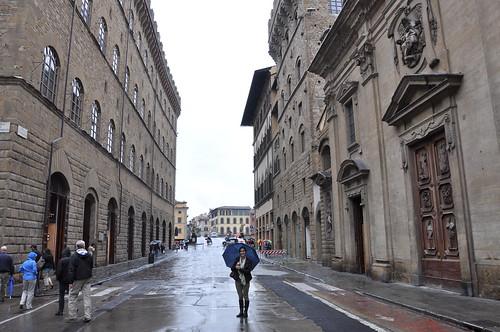 Outside Santa Trinita in Florence