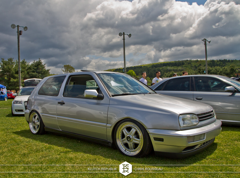 silver mk3 vw gti low and fitted at staggered 2012