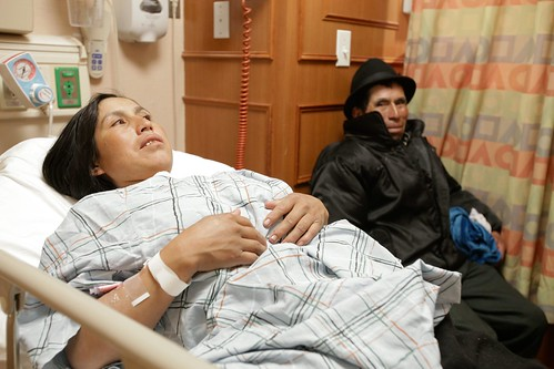 Carmen and Baltazar in the hospital.