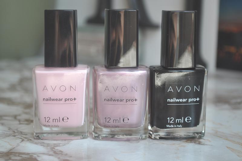 avon nailwear pro+ nail polish pastel pink romance licorice 1