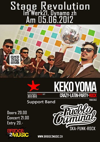 Keko Yoma and Pueblo Criminal On Stage Revolution - Flyer - 05.06.2012 - PUEBLO CRIMINAL