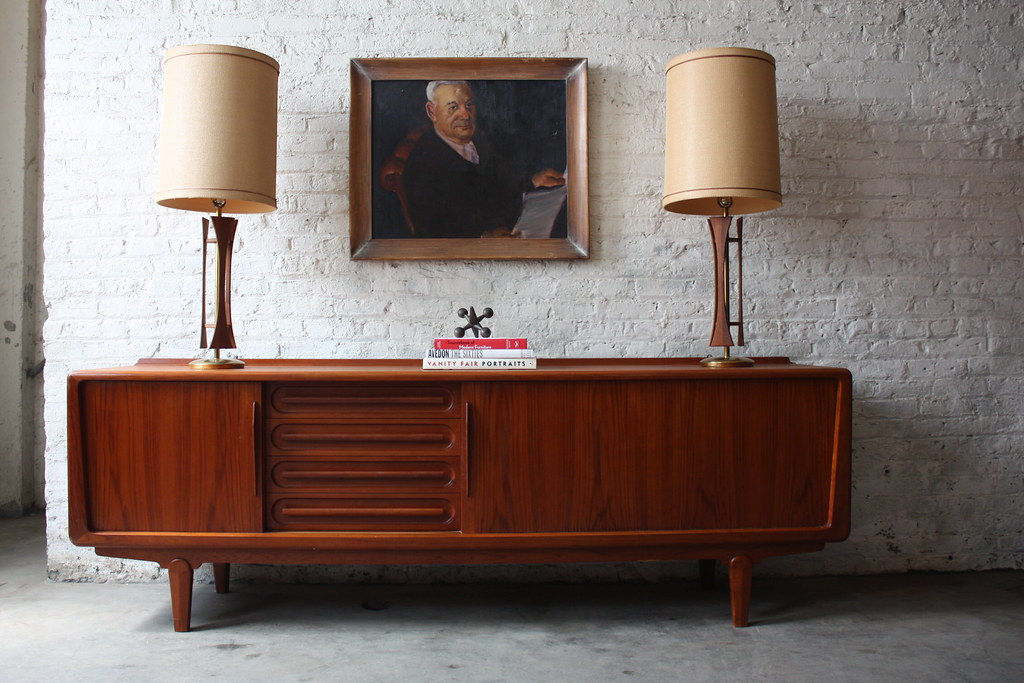 1960s Danish Credenza : Sensational danish mid century modern solid teak credenza vamo