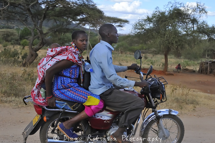 Family on a motorcycle, Arusha, Tanzania | Family on a motor