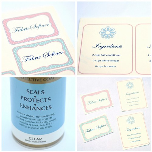 Making home-made fabric softener labels