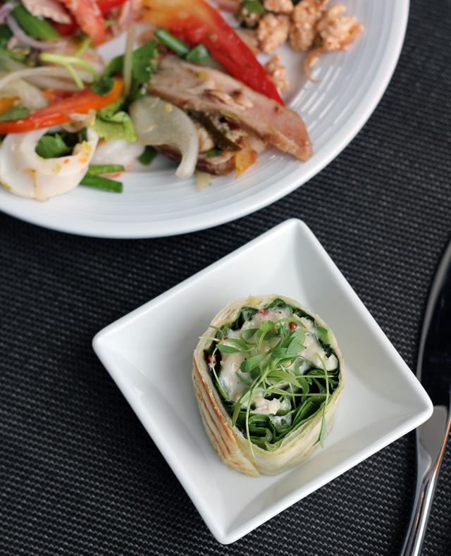 Salad Selection and Fresh Tortilla Wraps