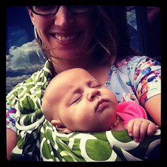 Conked out in the #hava #sling !! #babywearing ftw!