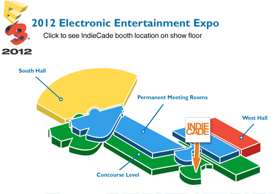 E3 2012 Map for IndieCade