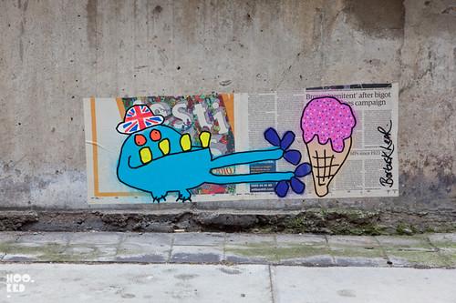 Diamond Jubilee Street Art in London by artist Bortusk Leer