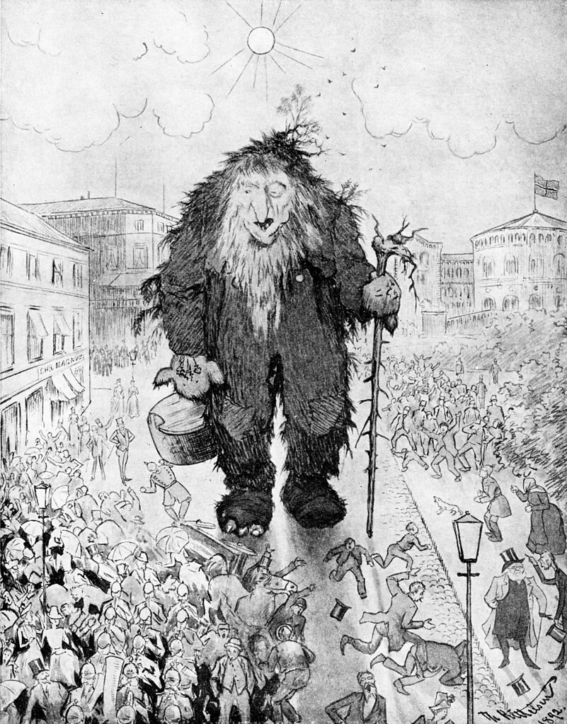 Theodor Kittelsen - The Troll on Karl Johan Square, 1892