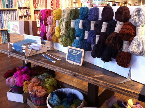 "Fancy Tiger's own ""Heirloom"" yarn"
