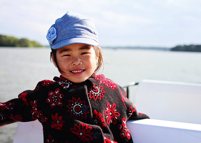 lily on boat
