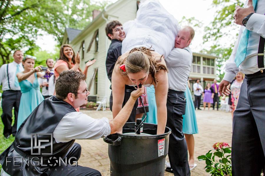 Keg Stand Bride | Alicia & Joe's Wedding | The Wheeler House | Ball Ground Canton Wedding Photographer