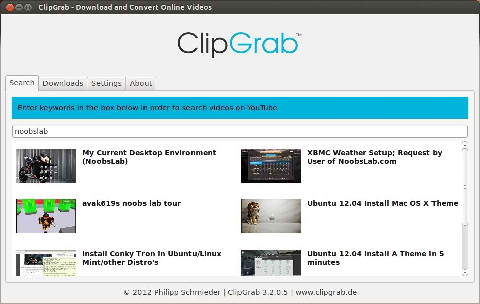 Install ClipGrab in Ubuntu/Linux Mint - Download and Convert Videos