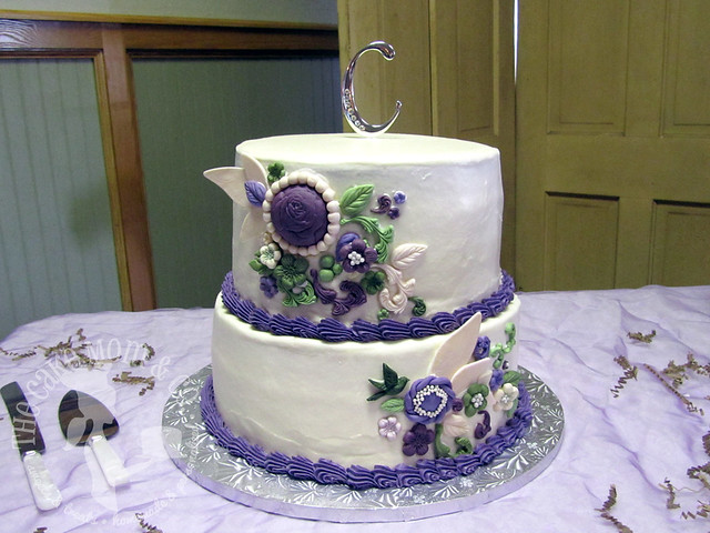 Rustic Purple Wedding Cake